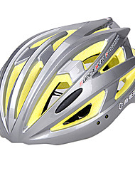 INBIKE unisex 21 respiraderos de color amarillo y plata pc + eps moldeadas integralmente-casco de bicicleta (54-62cm)