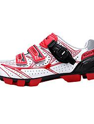leve mtb mountain ciclismo bike sapatos bloqueio atlético dos homens Santic - vermelho + prata