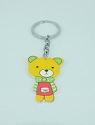 A Bear Shape   Metal Silver Keychain Toys