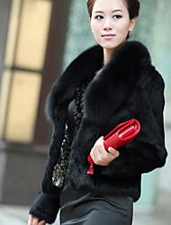 XT Rabbit Fur Coat_101 (Black,White)