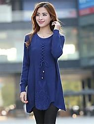 Women's In Cross with Long Sleeve Knit Dress Sweater