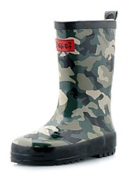 Rubber Children's Flat Camouflage Heel Rain Boot Shoes