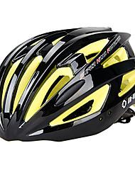 INBIKE unisex 21 respiraderos de pc + eps negros y amarillos moldeados integralmente-casco de bicicleta (54-62cm)