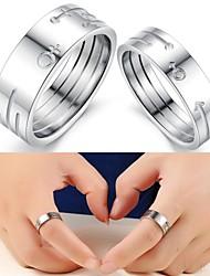 homens e mulheres símbolo anel de titânio amantes da moda