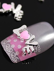 10pcs 3D Alloy Love Letter Character Nail Art Decoration