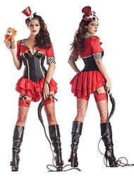 Charming Circus Troupe Trainer Red Terylene Halloween Costume