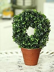 la simulation de plastique délicat en forme de cercle de plante en pot