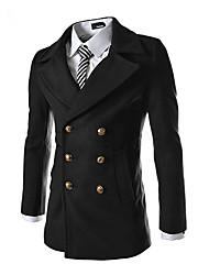 jogal 3d mentale doppio petto cappotto di lana