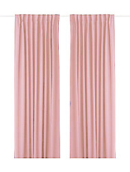 One Panel Back Tap Top  Minimalist Pink Solid Energy Saving Curtain