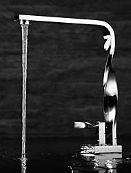 laiton chromé contemporaine un trou poignée unique lavabo robinet