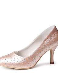 Women's Wedding Shoes Heels/Closed Toe Heels Wedding/Party & Evening Black/Blue/Yellow/Pink/Purple/Red/Ivory/White/Silver/Gold/Champagne