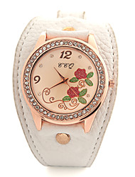 ToMoNo PU Leather Women Dress Watch(White)