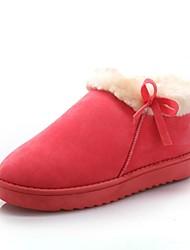 damesschoenen ronde neus lage hak faux suède enkellaarsjes met bowknot meer kleuren beschikbaar