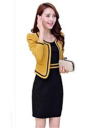 Incern®Women's Two-piece Bodycon OL Style Suit(Coat & Dress)