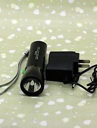 TD-912 Rechargeable 2-Mode LED 2x Cree XML-T6 Flashlight (100LM, 1x1500mAh Battery, Black)