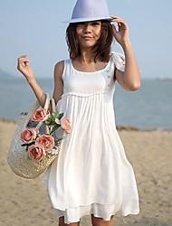 Women's Peasant Bohemian Casual Beach Dress
