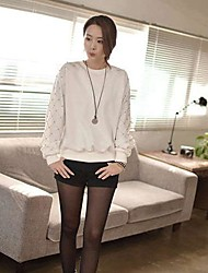 Women's White Loose Long Sleeve Cotton Shirt