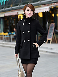 Maliia Stand Collar Long Sleeve Fashion Fitted Coat_9