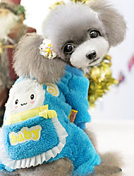 lindo conejo patrón de cuatro pies pantalones para perros mascotas colores surtidos xxl