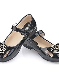 Girl's Flats Spring / Summer / Fall / Winter Comfort Patent Leather Party & Evening Flat Heel Flower Black / Pink
