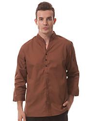 ресторанах униформа 3/4 рукав официант футболки с застежкой