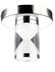 Led Flush Mount, 1 Light, Modern Cylinder Acrylic Steel Electroplating