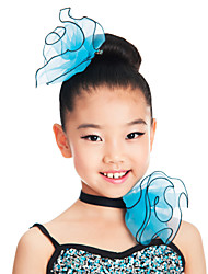 Accessori danza e ballo Accessori per capelli Per donna Addestramento Organza Fiori Verde Danza moderna / Esibizione Quattro stagioni