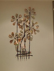 Metal Wall Art Wall Decor,Bouquet Candle Holder Wall Decor