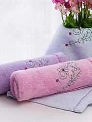 toalla del bebé azul bordado 100% toalla de fibra de bambú 30 * 50cm