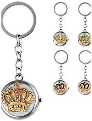 mode couronne en forme de pendentif en métal de femmes de diamant artificiel montre sac de porte-clés (1pc)