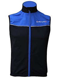 Realtoo Cycling Vest Women's Men's Unisex Sleeveless Bike Vest/Gilet Tops Thermal / Warm Windproof Fleece Lining Breathable Fleece