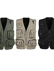 Xintianhai Muti-porket Gridding Waistcoat Vest for Outdoor Photographer Director [XXL]