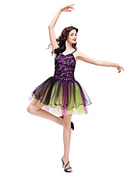 Ballet Dresses Women's / Children's Training Lace / Tulle Lace Sleeveless Natural