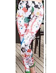 pantalones de tocar fondo floral de la nueva manera fannier