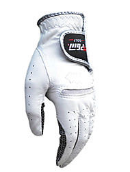 PGM Men's Right Hand Cabretta Leather White Breathable Full Finger Golf Gloves-1 Piece