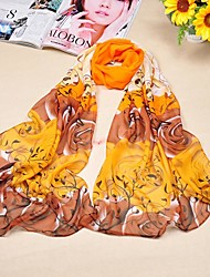 Flower Fashion Rayon Long Pattern Beach Scarf