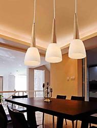bar carvalho luminária, três luzes, carvalho e vidro, 220 ~ 240V (hy8013)