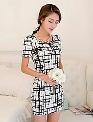 ypy полосы печати платье