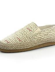 damesschoenen ronde neus platte hak canvas instappers met slip-on schoenen meer kleuren beschikbaar