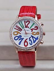 Relojes digitales de las mujeres de color de perforación de la moda (colores surtidos)