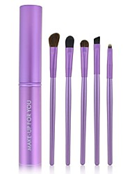 Make-up For You Portable 5pcs Eye Makeup Brushes Set(Purple)