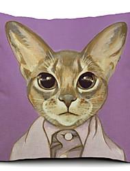 mr. chat coton / lin taie d'oreiller décoratif