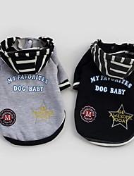 ropa fresca masculinos con capucha para perros mascotas (tamaños, colores)