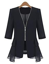 Women's Bodycon Chiffon Small Outerwear