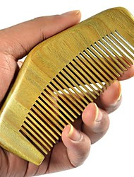 Mountain Comb Back Design 12x5cm High Quality Green Sandalwood Wooden Comb