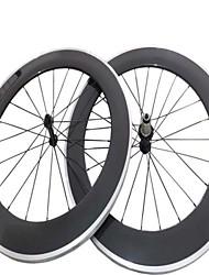 Kayote 700c 80mm pneu aluminium surface de freinage de roues de carbone