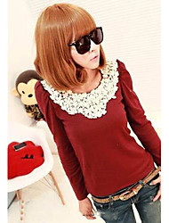 Women's New Womens Hubble Bubble Sleeve Lace Lace T-Shirt