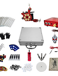1 Gun Complete No Ink Tattoo Kit Tatoo Machine and Aluminum Alloy Power Supply