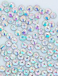 1400pcs 3,0 milímetros brilho cristal ab strass arte do prego decoração