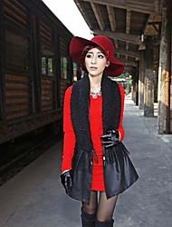 Women PU Outerwear/Shawl & Wrap